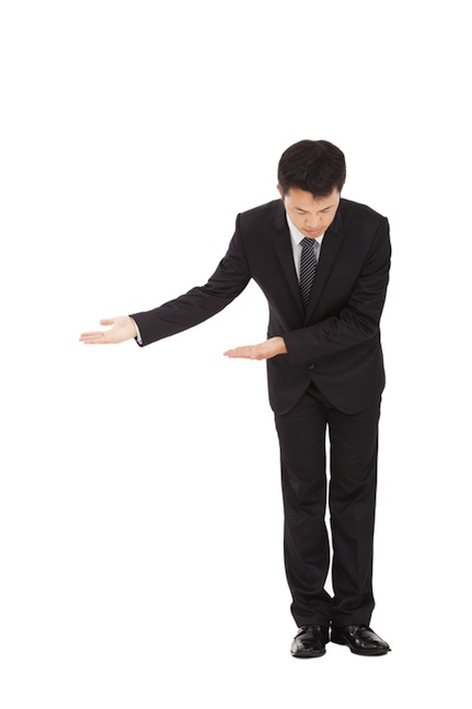 Chinese man bowing to welcome you to TERRA Editors